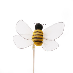 Bee Maya 7cm on 50cm stick white