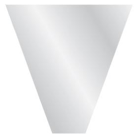 CLEAR V-SHAPE 16x10x3 IN BOPP 40