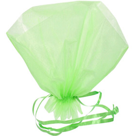 ORGANZA BQT ROSET HOLDER 20x12 IN LIGHT GREEN