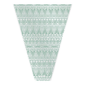 Sleeve Vintage Lace V-shape 50x35x10cm green