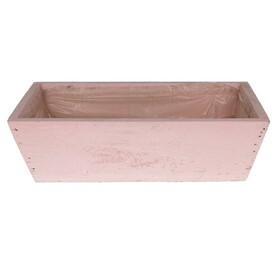 Wooden planter 26x15x8.5cm light pink