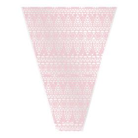 Sleeve Vintage Lace V-shape 50x35x10cm pink