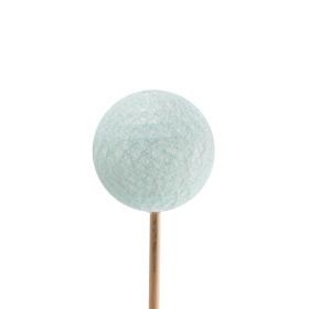 Deco Bal garen Thread 6cm op 50cm stok blauw
