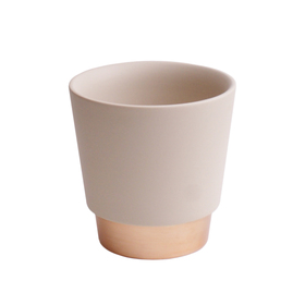 Ceramic Pot Elegance 5in cream