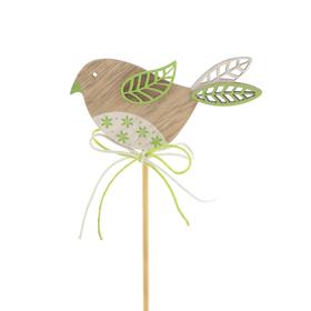 Bird Kiki 3in on 20in stick green