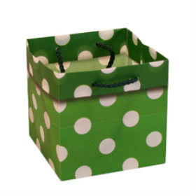 CARRYBAG POLKA DOTS 5X5X5 IN GREEN