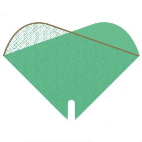 Sleeve Doublé Cotton Fields 35x35cm green
