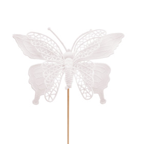 Butterfly Max 16cm on 50cm stick white