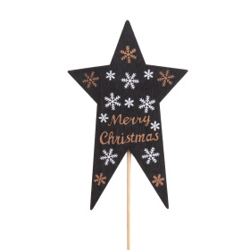 Star Nordic 7x11cm on 10cm stick black