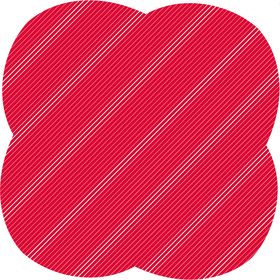 Sheet Stripes&Hypes 80x80cm red