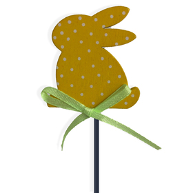 Easter Bunny Dots Small on 8in pick yellow