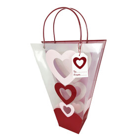 Carrybag Stacked Hearts 18x14x5 in