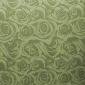 Sheet Organza Roses 40x40cm green