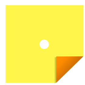 Bi-Color 24x24in yellow/orange H3