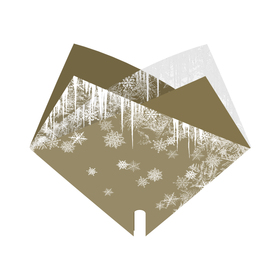 Hoes Doublé Holiday on Ice 35x35cm goud