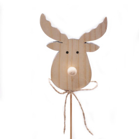 Reindeer Donner 7cm on 50cm stick gray
