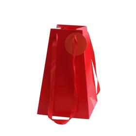Draagtas Bano 10/10x17/17x27,5cm rood