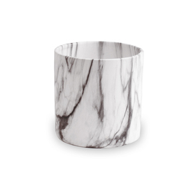 Ceramic pot Marble ES10.5 black/white