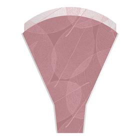 Sleeve Skeleton Leaves 50x35x10cm pink