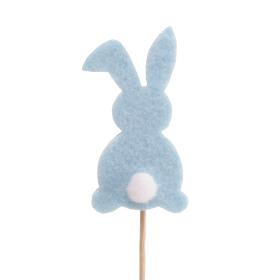 Haas Baby Bunny 7cm op 10cm stok blauw