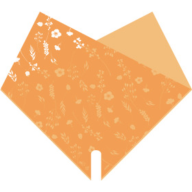 Sleeve Doublé Atelier 40x40cm orange