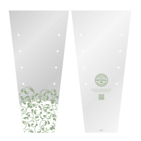 Plant sleeve PLA Biodegradable 70x32x17cm transparent