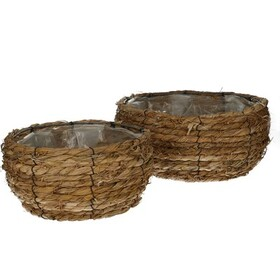 Baskets rope bin S/2 Ø29xH13
