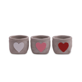 Ceramic Pot Hjarta ES6 assorted x3