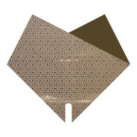 Sleeve Doublé Glitters & Stars 40x40cm gold