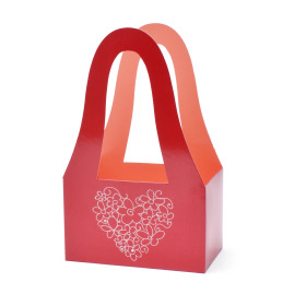 Carrybag Double Love 20/11.5x32.5cm red