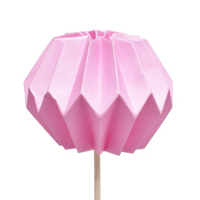 Pompon 7.5cm on 50cm stick pink