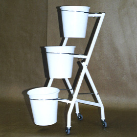Bucket display KP3 41.5x39.5x98.5cm white
