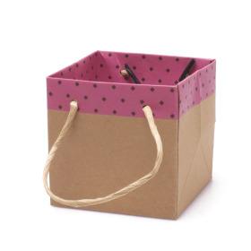 Carton bag Sophie 13x13x13cm pink