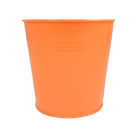 Tin Pot 6in orange