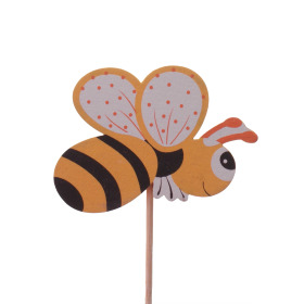 Summer Bee 7cm on 50cm stick orange