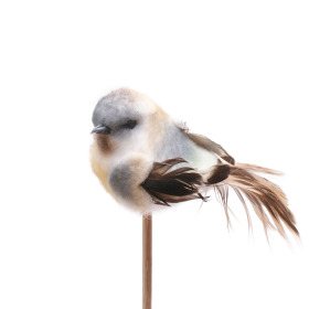 Bird Tommy 6.5cm on 50cm stick blue