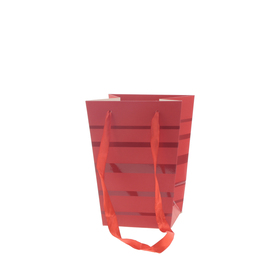 Draagtas Ellen 15/15x11/11x20cm FSC Mix rood