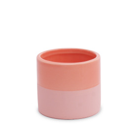 Ceramic Pot Soft Touch ES2.5 in Coral Blush