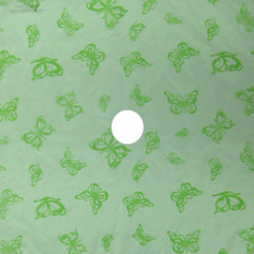 Organza Mariposa 24x24 in light green with hole