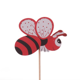 Summer Bee 7cm on 50cm stick red
