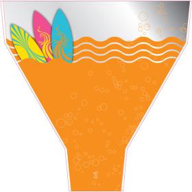 Surf's Up 21x17x5 in orange