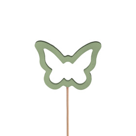 Butterfly Melissa 7.5cm on 50cm stick green