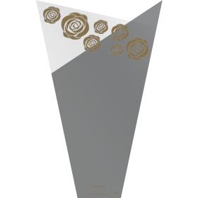 Hoes Doublé Golden Rose 60x35x12cm zilver