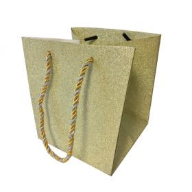"Carrybag Glitter & Glamour 15/15x13/13x15 gold 6"""