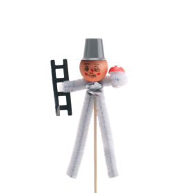 Chimney sweeper 11cm on 15cm stick silver