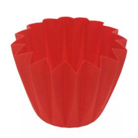 CUPCAKE CONTAINER 11 CM RED (CARMINE)