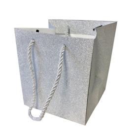 "Carrybag Glitter & Glamour 15/15x13/13x15 silver 6"""