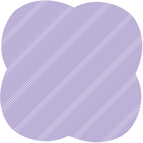 Sheet Stripes&Hypes 80x80cm lilac