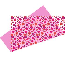 Voorgevouwen vel Lipps Inc. 75x75cm rood/roze