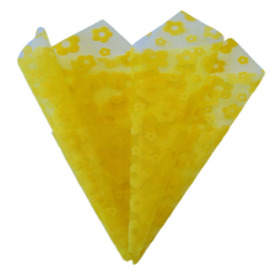 Organza Daisy 20x28in yellow with hole